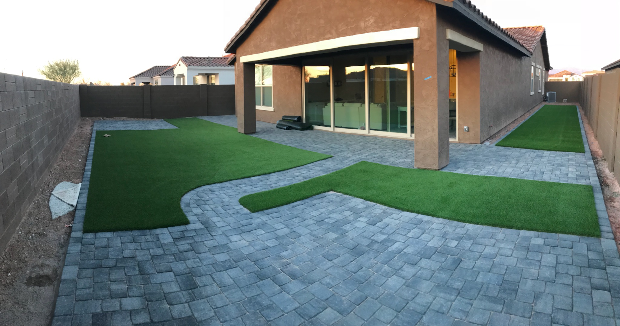 Paver Stone & Artificial Turf Installed in Phoenix Arizona